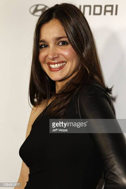 Actress Gina Philips arrives at the 5th Anniversary of Glamour Reel Moments presented by Hyundai at Directors Guild Of America on October 25 2010 in...