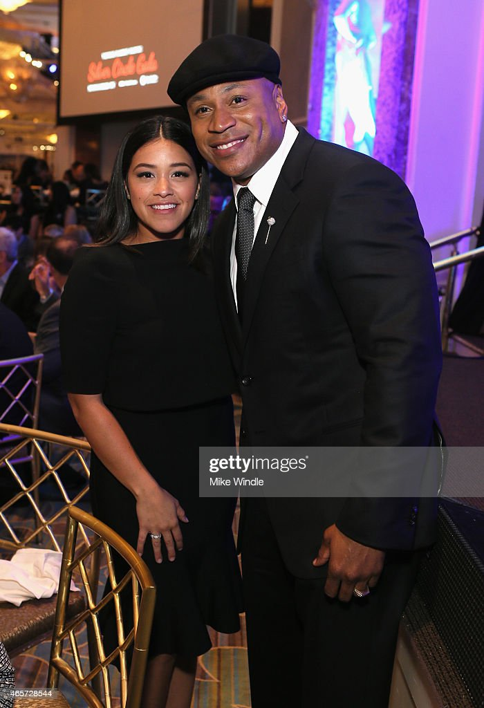 actress gina rodriguez l and host ll cool j attend the venice family clinics - Silver Hotel 2015