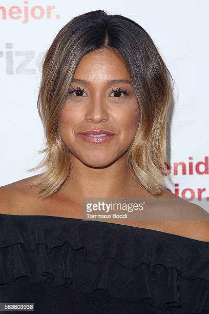 Actress Gina Rodriguez and Verizon launch Bienvenido a Lo Mejor held at the Mondrian Los Angeles on July 27 2016 in West Hollywood California