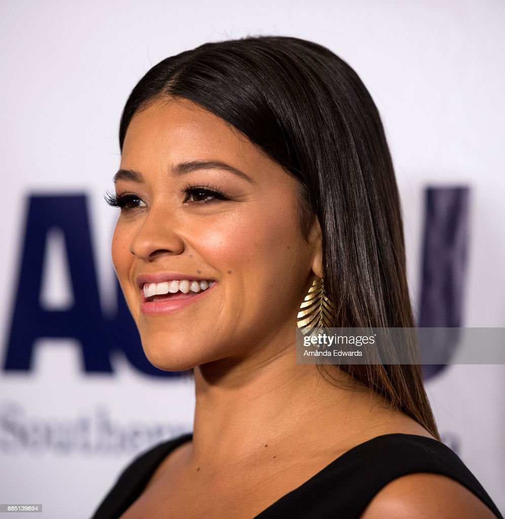 Actress Gina Rodriguez arrives at ACLU SoCal's Annual Bill of Rights Dinner at the Beverly Wilshire Four Seasons Hotel on December 3, 2017 in Beverly Hills, California.