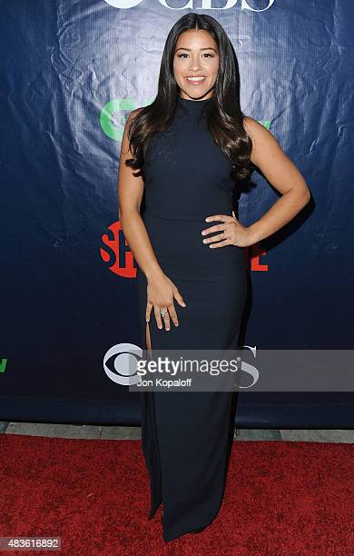 Actress Gina Rodriguez arrives at CBS CW And Showtime 2015 Summer TCA Party at Pacific Design Center on August 10 2015 in West Hollywood California