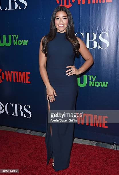 Actress Gina Rodriguez arrives at CBS, CW And Showtime 2015 Summer TCA Party at Pacific Design Center on August 10, 2015 in West Hollywood,...