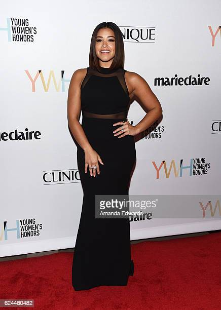 Actress Gina Rodriguez arrives at the 1st Annual Marie Claire Young Women's Honors at the Marina del Rey Marriott on November 19 2016 in Marina del...