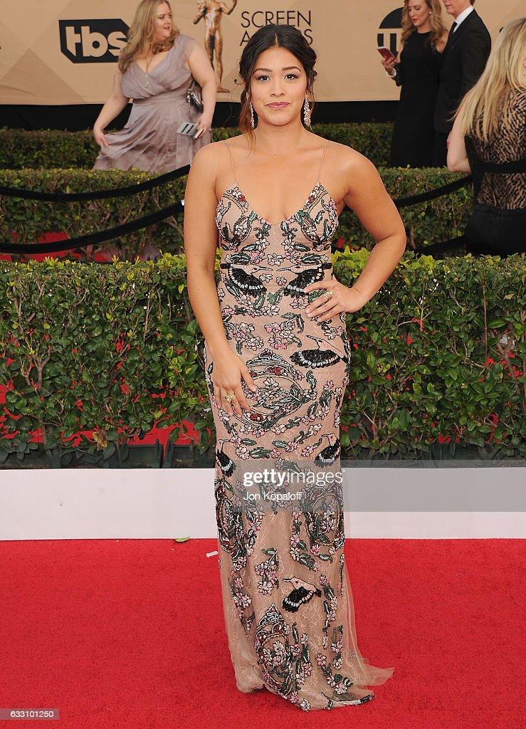 Actress Gina Rodriguez arrives at the 23rd Annual Screen Actors Guild Awards at The Shrine Expo Hall on January 29, 2017 in Los Angeles, California.