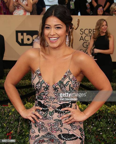 Actress Gina Rodriguez arrives at the 23rd Annual Screen Actors Guild Awards at The Shrine Expo Hall on January 29 2017 in Los Angeles California