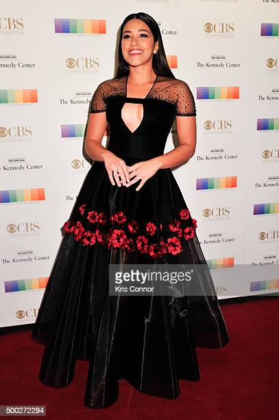 Actress Gina Rodriguez arrives at the 38th Annual Kennedy Center Honors Gala at the Kennedy Center for the Performing Arts on December 6 2015 in...
