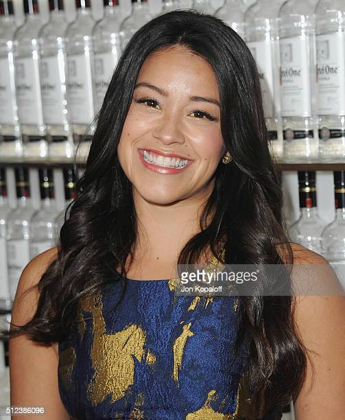 Actress Gina Rodriguez arrives at the 3rd Annual unite4humanity at Montage Hotel on February 25 2016 in Beverly Hills California