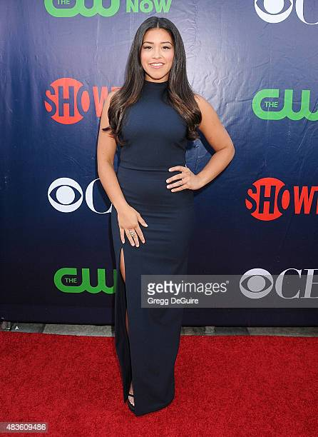 Actress Gina Rodriguez arrives at the CBS CW And Showtime 2015 Summer TCA Party at Pacific Design Center on August 10 2015 in West Hollywood...