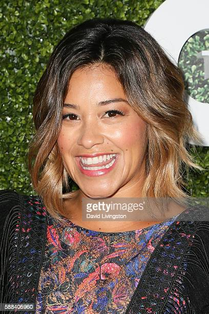 Actress Gina Rodriguez arrives at the CBS CW Showtime Summer TCA Party at the Pacific Design Center on August 10 2016 in West Hollywood California