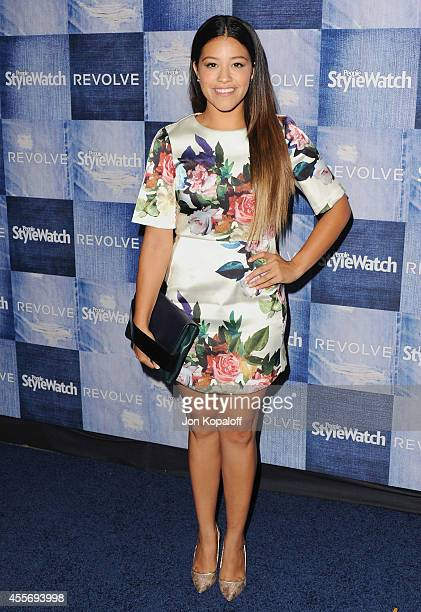 Actress Gina Rodriguez arrives at the People StyleWatch 4th Annual Denim Awards Issue at The Line on September 18, 2014 in Los Angeles, California.