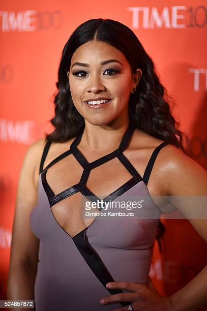 Actress Gina Rodriguez attends 2016 Time 100 Gala Time's Most Influential People In The World red carpet at Jazz At Lincoln Center at the Times...