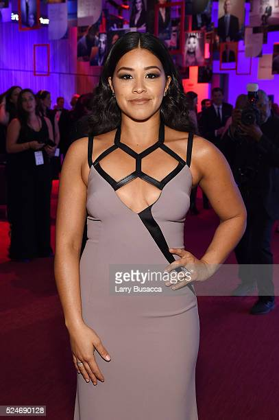 Actress Gina Rodriguez attends 2016 Time 100 Gala Time's Most Influential People In The World Cocktails at Jazz At Lincoln Center at the Times Warner...