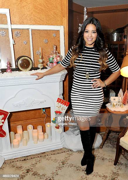 Actress Gina Rodriguez attends KIIS FM's Jingle Ball 2014 powered by LINE gifting lounge at Staples Center on December 5 2014 in Los Angeles...