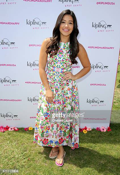 Actress Gina Rodriguez attends #KiplingMakeHappy at a college campus on April 30 2015 in Los Angeles California