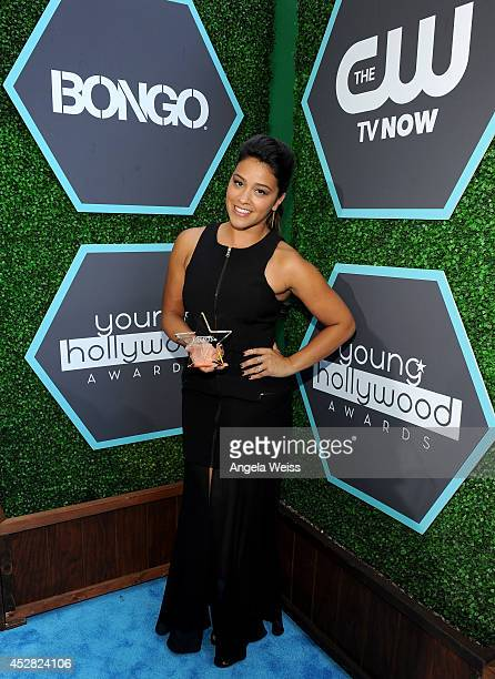 Actress Gina Rodriguez attends the 2014 Young Hollywood Awards brought to you by Samsung Galaxy at The Wiltern on July 27 2014 in Los Angeles...
