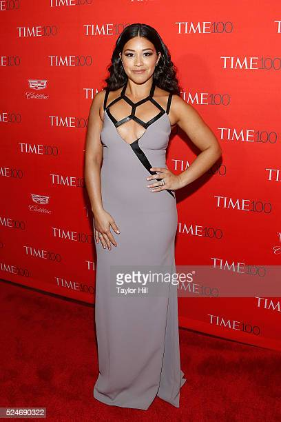 Actress Gina Rodriguez attends the 2016 Time 100 Gala at Frederick P Rose Hall Jazz at Lincoln Center on April 26 2016 in New York City