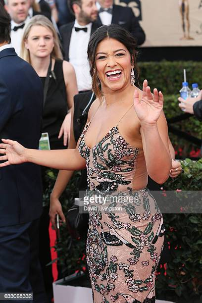 Actress Gina Rodriguez attends the 23rd Annual Screen Actors Guild Awards at The Shrine Expo Hall on January 29 2017 in Los Angeles California