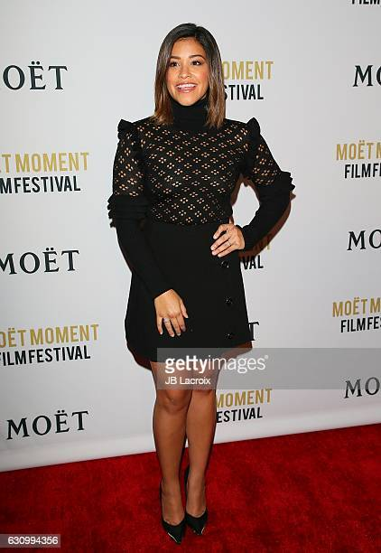 Actress Gina Rodriguez attends the 2nd Annual Moet Moment Film Festival and Kick Off of Golden Globes Week on January 5 2017 in West Hollywood...