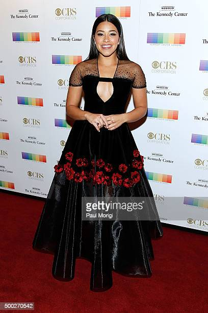 Actress Gina Rodriguez attends the 38th Annual Kennedy Center Honors Gala at John F Kennedy Center for the Performing Arts on December 6 2015 in...