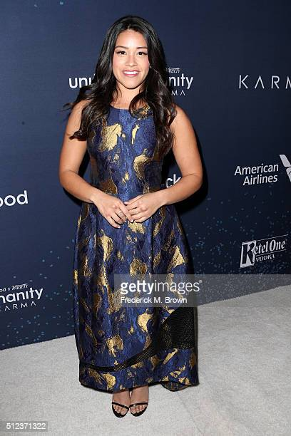 Actress Gina Rodriguez attends the 3rd annual unite4humanity at Montage Beverly Hills on February 25 2016 in Beverly Hills California
