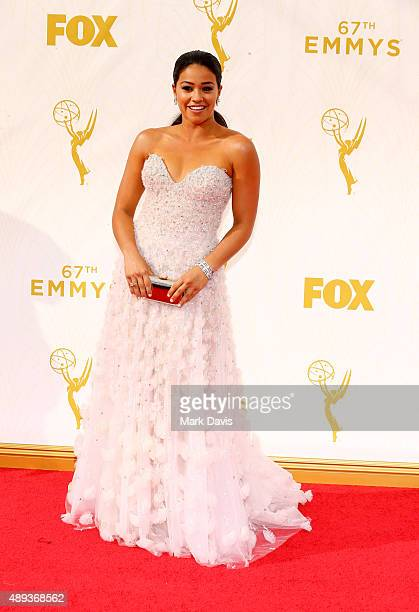 Actress Gina Rodriguez attends the 67th Annual Primetime Emmy Awards at Microsoft Theater on September 20 2015 in Los Angeles California
