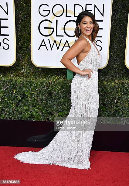 Actress Gina Rodriguez attends the 74th Annual Golden Globe Awards at The Beverly Hilton Hotel on January 8 2017 in Beverly Hills California