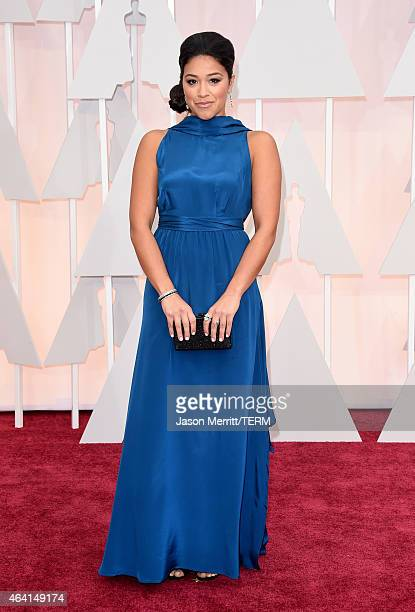 Actress Gina Rodriguez attends the 87th Annual Academy Awards at Hollywood Highland Center on February 22 2015 in Hollywood California