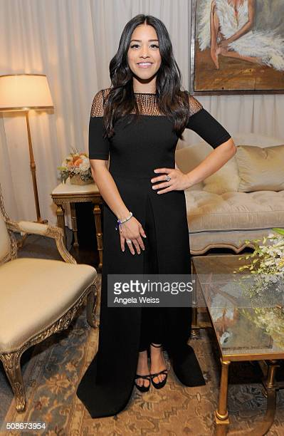 Actress Gina Rodriguez attends the Backstage Creations Celebrity Retreat at The 47th NAACP Image Awards at Pasadena Civic Auditorium on February 5...