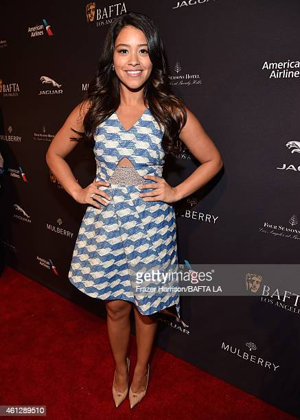 Actress Gina Rodriguez attends the BAFTA Los Angeles Tea Party at The Four Seasons Hotel Los Angeles At Beverly Hills on January 10, 2015 in Beverly...