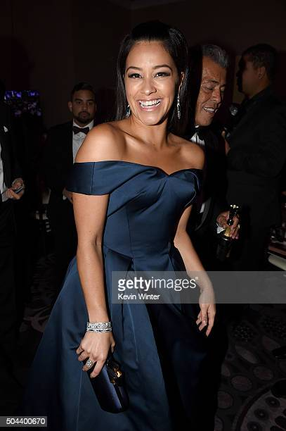 Actress Gina Rodriguez attends the cocktail reception during the 73rd Annual Golden Globe Awards at The Beverly Hilton Hotel on January 10 2016 in...
