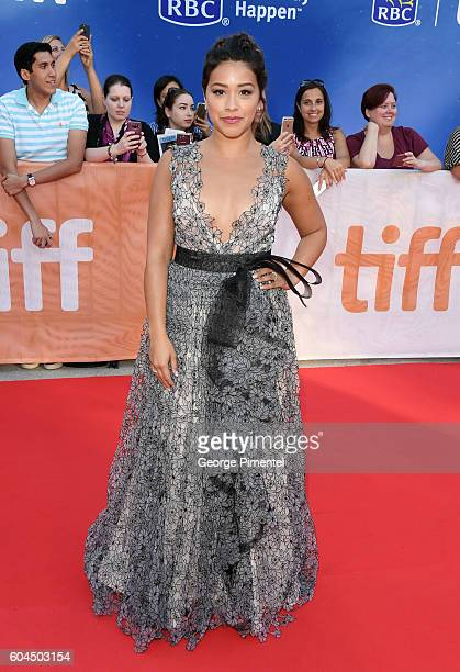 Actress Gina Rodriguez attends the Deepwater Horizon premiere during the 2016 Toronto International Film Festival at Roy Thomson Hall on September 13...
