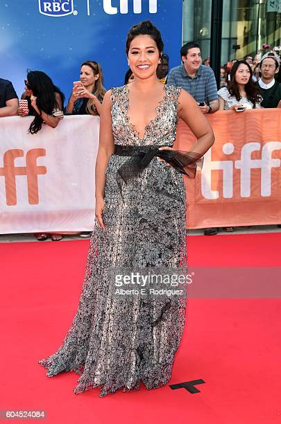 Actress Gina Rodriguez attends the 'Deepwater Horizon' premiere during the 2016 Toronto International Film Festival at Roy Thomson Hall on September...