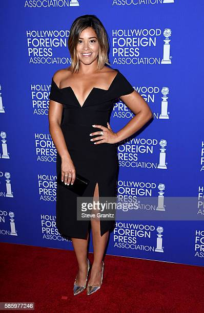 Actress Gina Rodriguez attends the Hollywood Foreign Press Association's Grants Banquet at the Beverly Wilshire Four Seasons Hotel on August 4 2016...