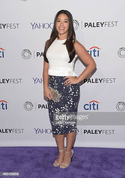 Actress Gina Rodriguez attends The Paley Center For Media's 32nd Annual PALEYFEST LA Jane The Virgin screening at the Dolby Theatre on March 15 2015...