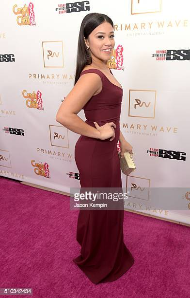 Actress Gina Rodriguez attends the Primary Wave 10th Annual PreGrammy Party at The London West Hollywood on February 14 2016 in West Hollywood...