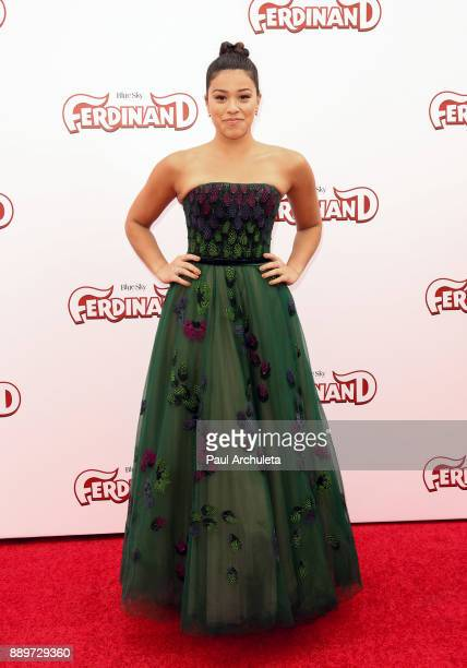 Actress Gina Rodriguez attends the screening of 'Ferdinand' at The Zanuck Theater at 20th Century Fox Lot on December 10 2017 in Los Angeles...