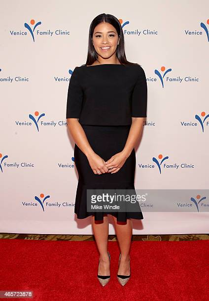 Actress Gina Rodriguez attends the Venice Family Clinic's Silver Circle Gala at Regent Beverly Wilshire Hotel on March 9 2015 in Beverly Hills...