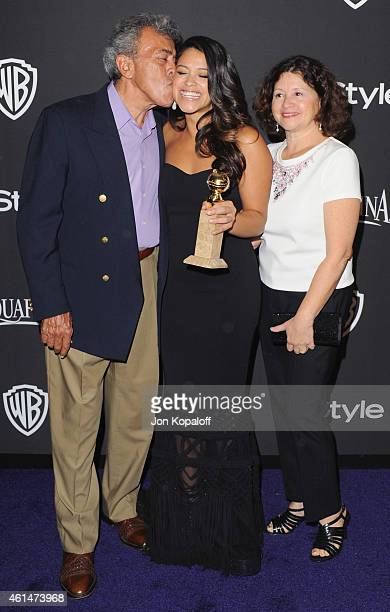 Actress Gina Rodriguez dad Genaro Rodriguez and mom Magali Rodriguez arrive at the 16th Annual Warner Bros And InStyle PostGolden Globe Party at The...