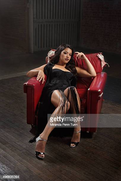 Actress Gina Rodriguez is photographed for Emmy Magazine on June 30 2015 in Los Angeles California