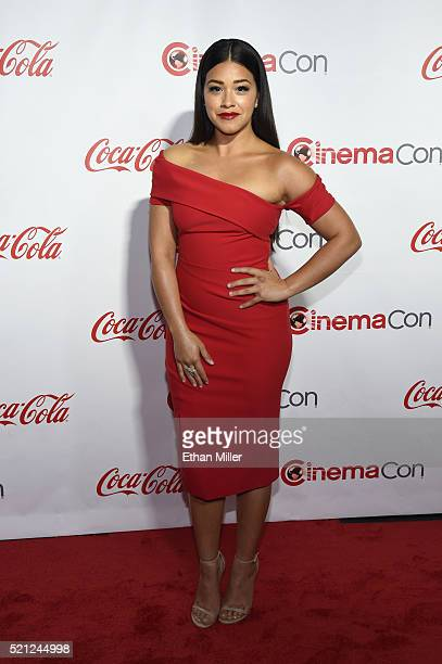 Actress Gina Rodriguez recipient of the Female Star of Tomorrow Award attends the CinemaCon Big Screen Achievement Awards brought to you by the...
