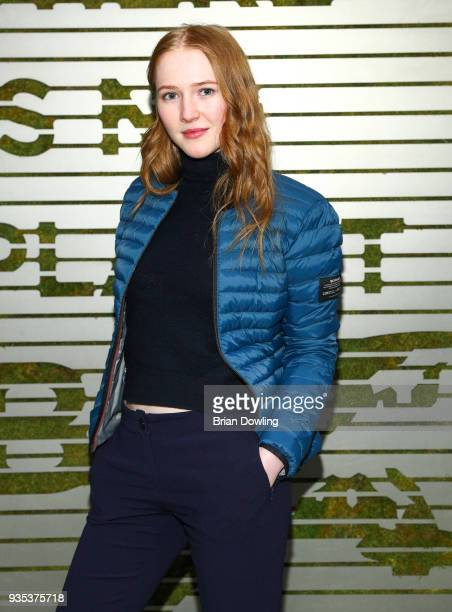 Actress Gina Stiebitz attends the Ecoalf Berlin store event to present the SS18 collection on March 20 2018 in Berlin Germany