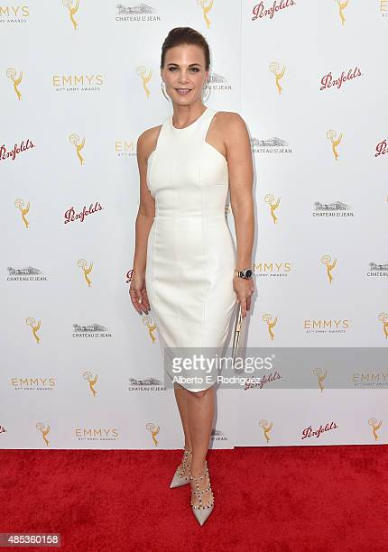 Actress Gina Tognoni attends a cocktail reception hosted by the Academy of Television Arts Sciences celebrating the Daytime Peer Group at Montage...