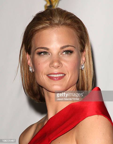 Actress Gina Tognoni in the press room at The 35th Annual Daytime Emmy Awards at the Kodak Theatre on June 20 2008 in Los Angeles California