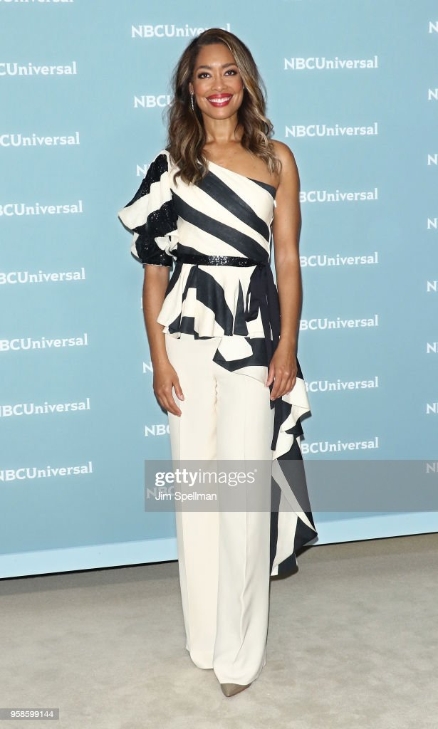 Actress Gina Torres attends the 2018 NBCUniversal Upfront presentation at Rockefeller Center on May 14, 2018 in New York City.