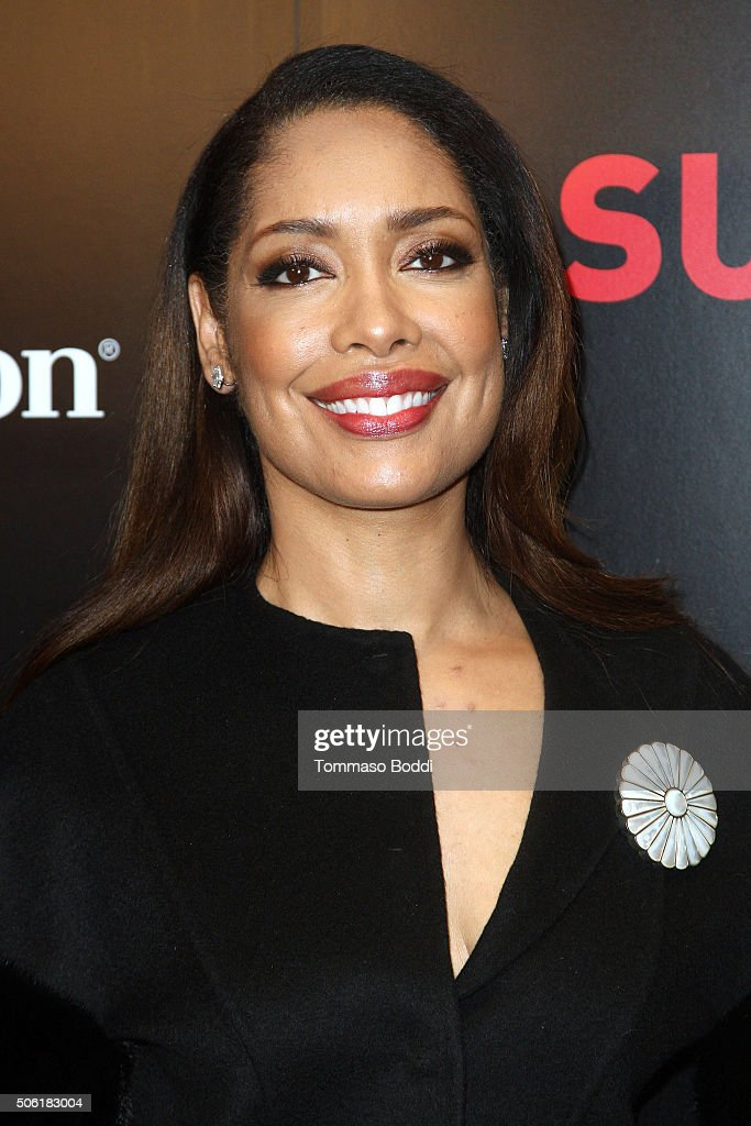 Actress Gina Torres attends the premiere of USA Network's 'Suits' season 5 held at Sheraton Los Angeles Downtown Hotel on January 21, 2016 in Los Angeles, California.