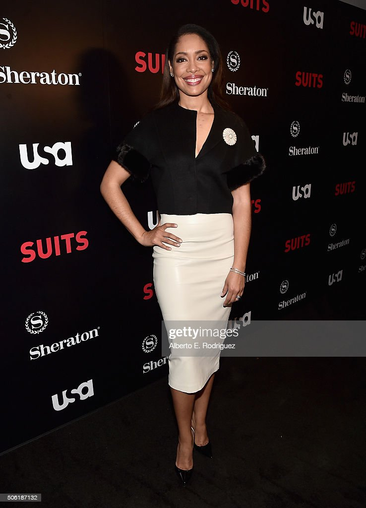 Actress Gina Torres attends the premiere of USA Network's 'Suits' Season 5 at the Sheraton Los Angeles Downtown Hotel on January 21, 2016 in Los Angeles, California.