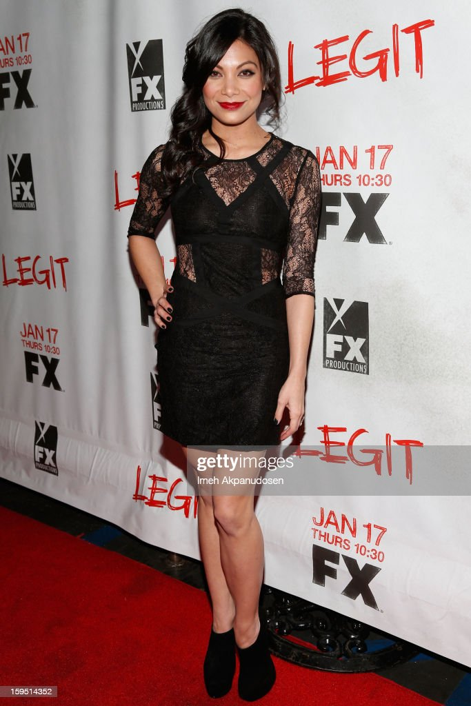 Actress Ginger Gonzaga attends the screening of FX's new comedy series 'Legit' on January 14, 2013 in Los Angeles, California.
