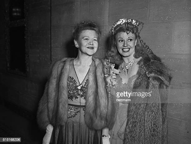 Actress Ginger Rogers and her mother Lela Rogers attending the 13th annual Academy of Motion Picture Arts and Sciences awards dinner at the Biltmore...