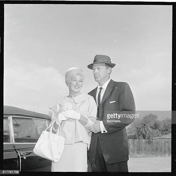 Actress Ginger Rogers and new husband William Marshall pose for photographers after their wedding here 3/16 The couple will have a short honeymoon...