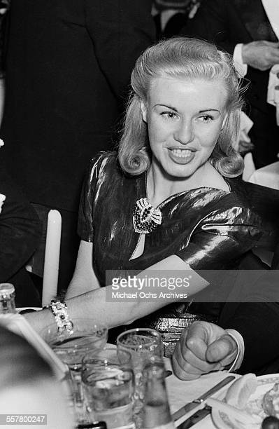 Actress Ginger Rogers poses during an event in Los Angeles California